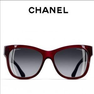 Chanel New Authentic Dark Red Sunglass